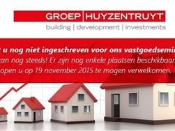 Vastgoedseminarie Investeren in vastgoed, denk vroeger aan later