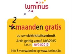 Ook in april 2 maanden gratis elektriciteit voor wie koopt of huurt via Immo Proxio