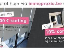 Maak via Immo Proxio kans op 2.000 euro korting op raamdecoratie